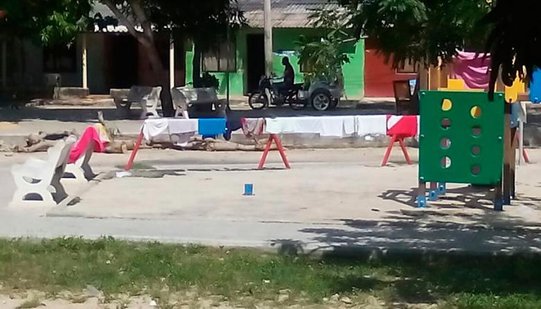 Denuncian daños en parque de Santo Tomás