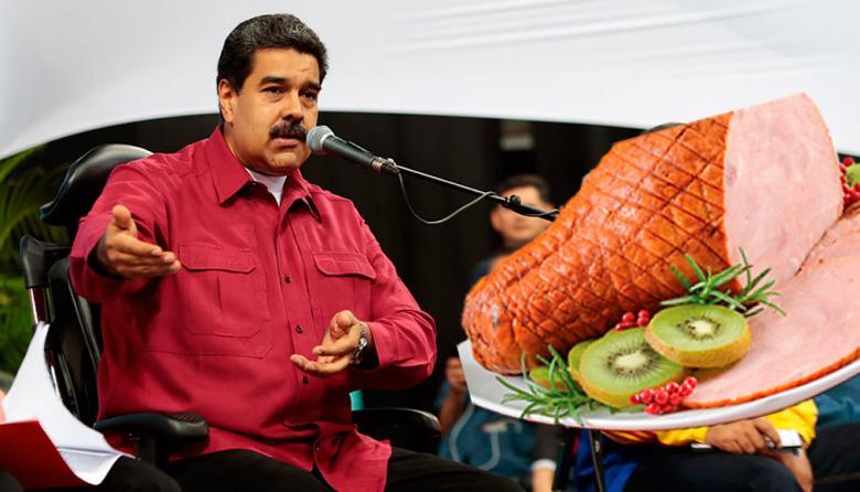 Maduro también tiene un culpable para la falta de pernil en Navidad
