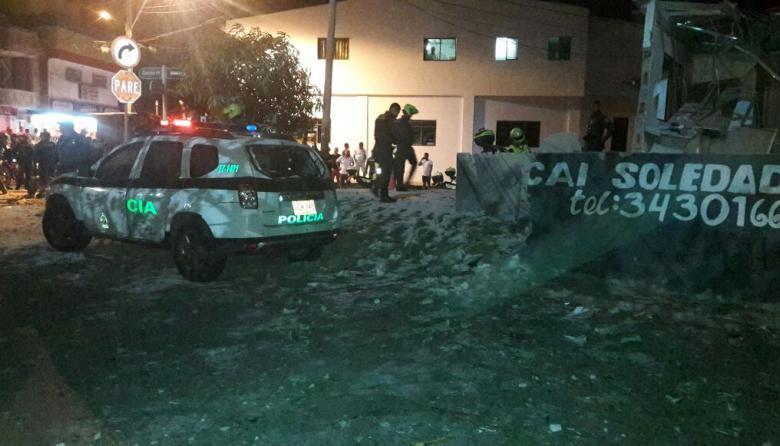 Fachada de la estación de Policía de Solead 2.000.