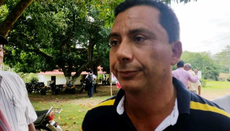 Alcalde de Canalete, Armando Lambertinez Bolaños.