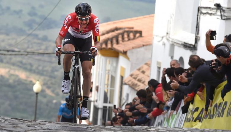 Tim Wellens durante el desarrollo de la cuarta etapa de la Vuelta a Andalucía.