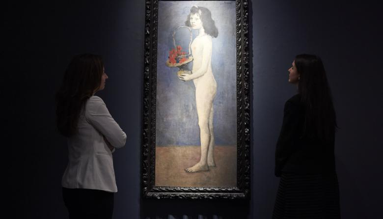 En Londres subastan obra de Picasso en el que se ve la silueta de su amante