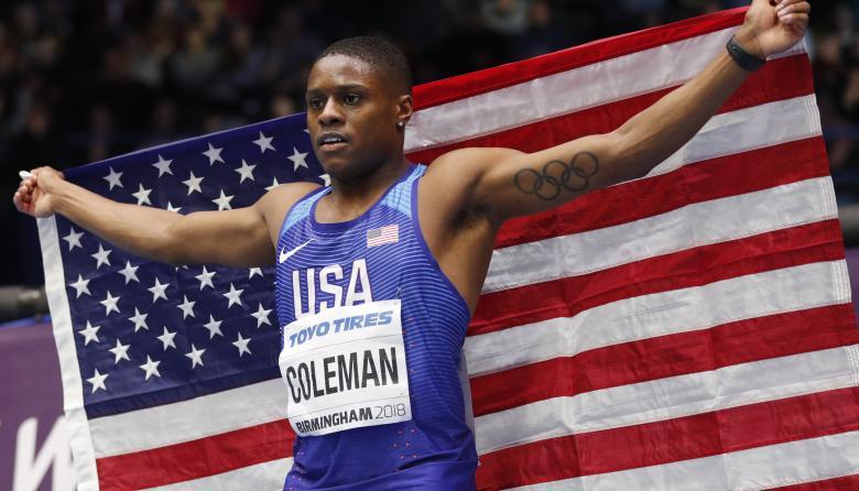 Coleman, el 'nuevo Bolt', se corona campeón mundial bajo techo