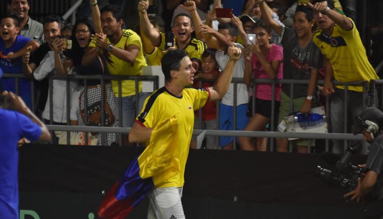Los tenistas cantaron: 'En Barranquilla me quedo'