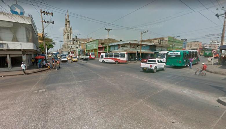 Calle 30 con carrera 38, en el suroriente de Barranquilla, donde ocurrió uno de los accidentes.