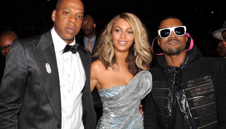 Jay-Z, Beyoncé y Kanye West.