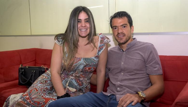 Sebastián Hernández y su esposa, la barranquillera Andrea Polo Lafaurie.