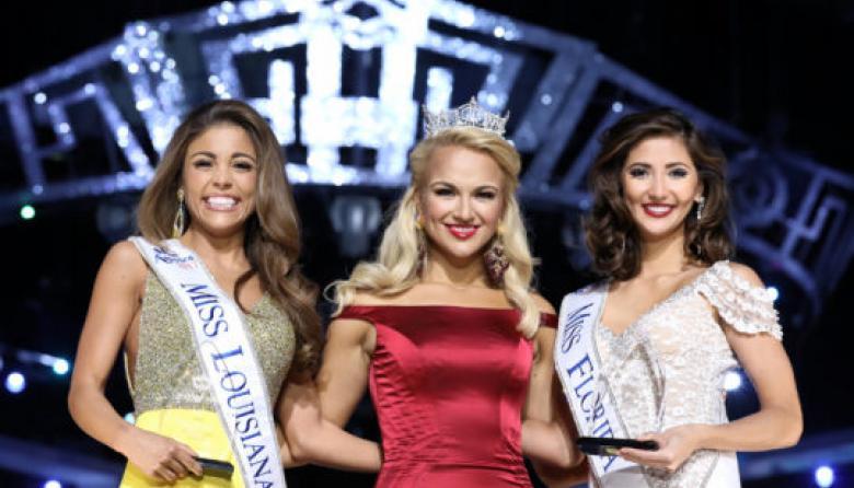 Tres de las candidatas que han concursado en Miss América.