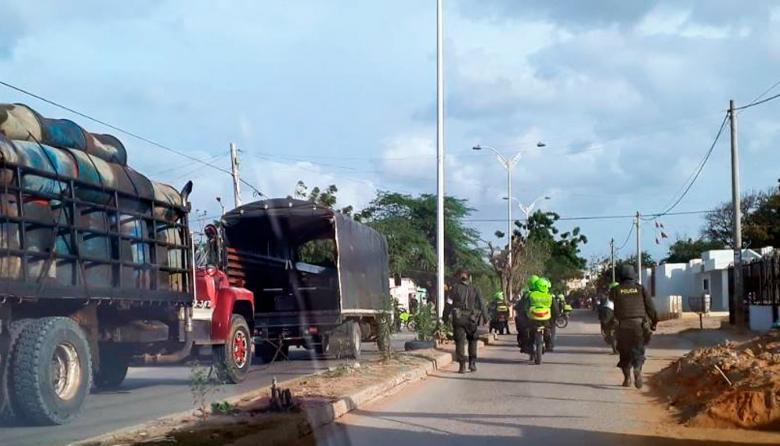 Enfrentamiento entre gasolineros y policías en Maicao deja un muerto