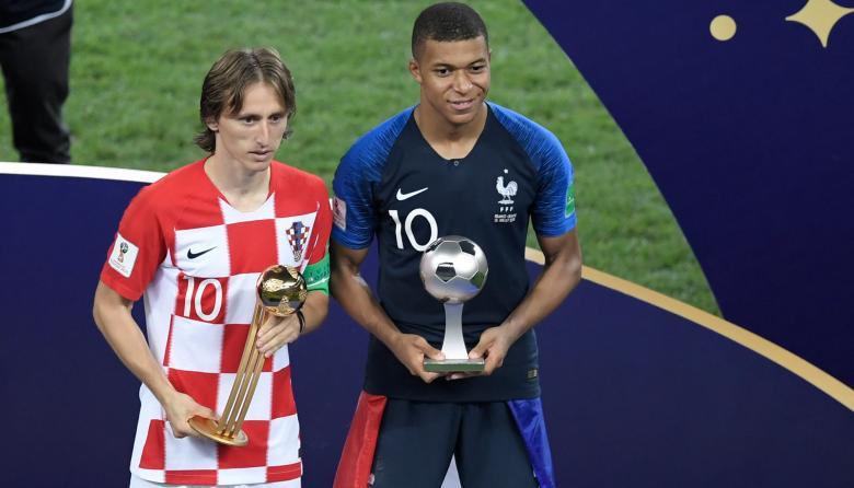 Modric, el mejor jugador del Mundial; Mbappé, el mejor juvenil