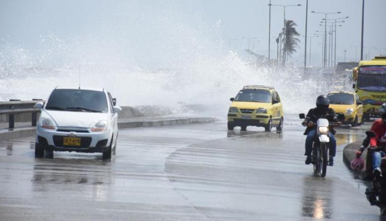 Alerta por fuertes vientos y oleajes en el Caribe colombiano