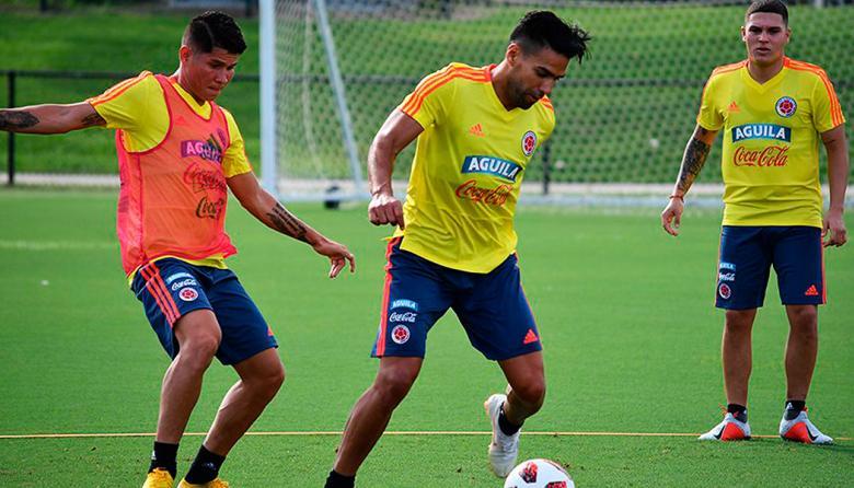 La Selección Colombia ya  entrena con el grupo completo