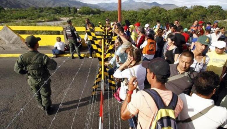 Vista de la frontera que divide a los colombianos de los venezolanos.