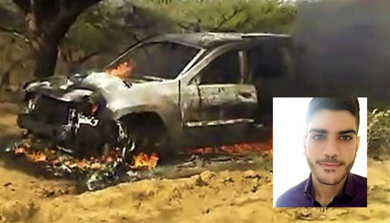 Luego del secuestro de Walid Tufic Yassine Issa, la camioneta en la que se transportaba fue encontrada incinerada.