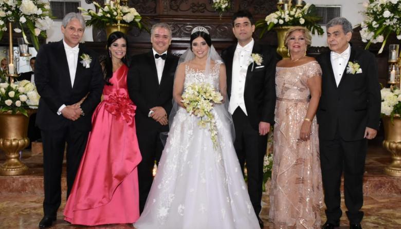 Presidente Duque, entre los asistentes a la boda de hija de Jaime Amín