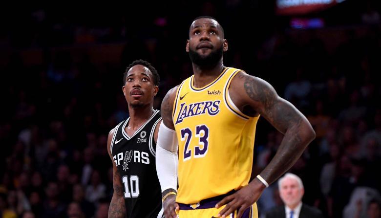 LeBron James, estrella de los Lakers de Los Angeles.
