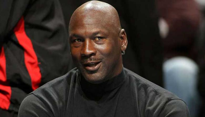 El estadounidense Michael Jordan, legendario exjugador de la NBA.