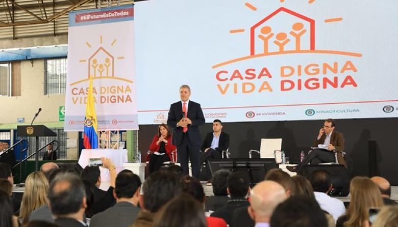 Gobierno pone en marcha nuevo programa de vivienda 'Casa Digna Vida Digna'
