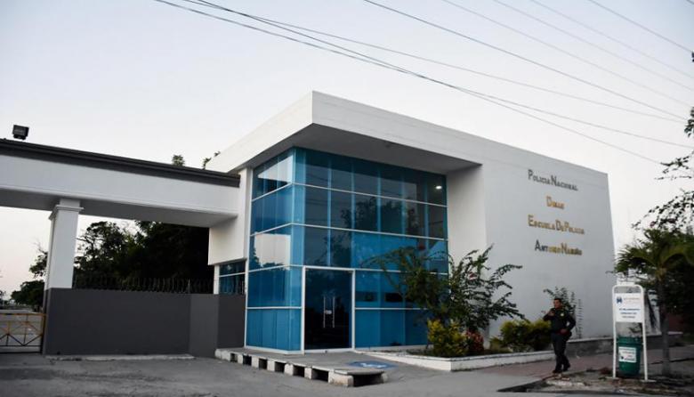 Entrada de la Escuela de Policía Antonio Nariño, ubicada en el municipio de Soledad.