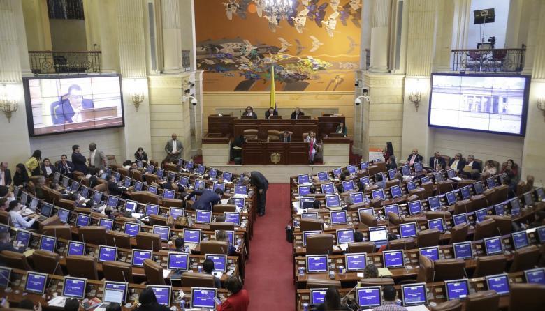 En el salón Boyacá del Congreso se hizo el primer debate de la Ley de Financiamiento.