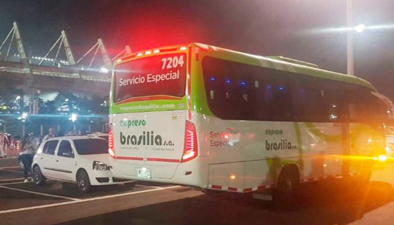 Estos son los buses que transportarán a la hinchada juniorista.