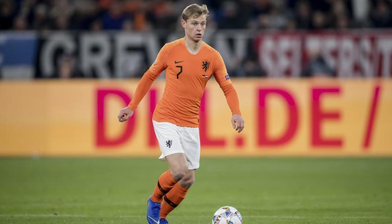 El centrocampista del Ajax de Ámsterdam y de la Selección Holanda, Frenkie de Jong.