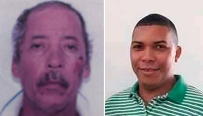 Alias Boqui (i) y la víctima, José De los Reyes Cantillo Padilla (d).