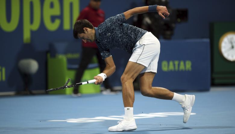 Djokovic tropieza en las semifinales de Doha