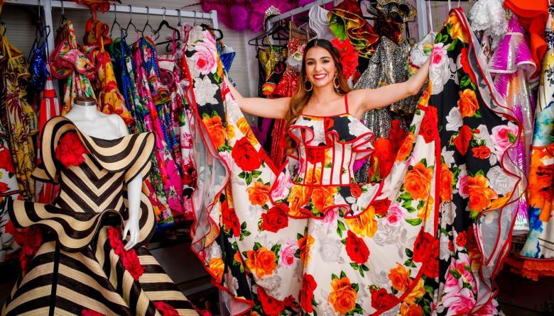 La reina del Carnaval 2019, Carolina Segebre Abudinen se prepara con disciplina y constancia para los grandes eventos de Carnaval.