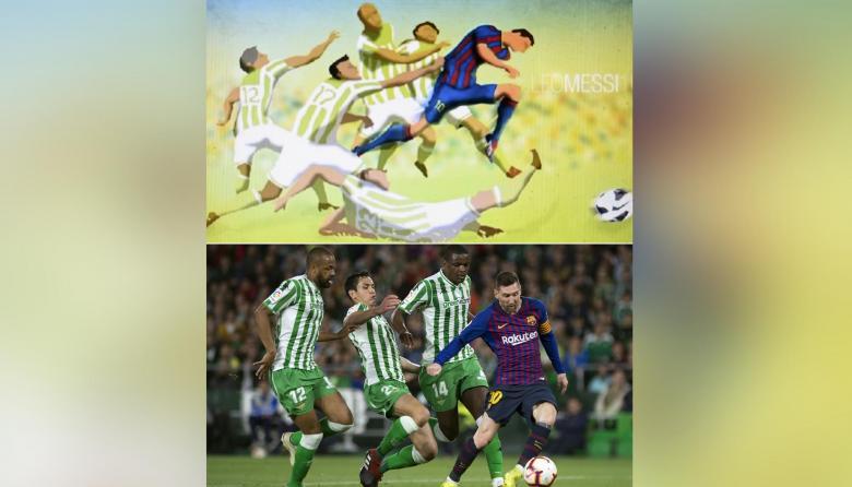 ¿La mano de Dios? El dibujo de un bangladesí sobre Messi se hizo realidad