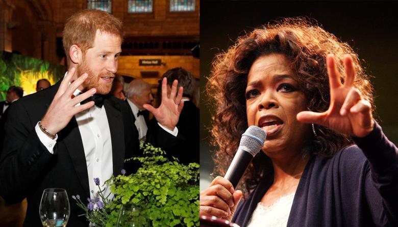 El príncipe y Oprah en una serie