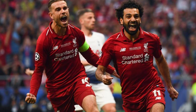 Salah anota el segundo gol más rápido en una final de Champions