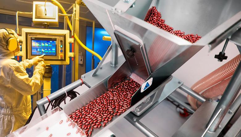 Proceso de fabricación de cápsulas blandas.