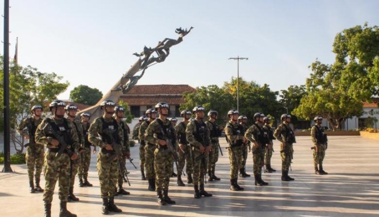 Las tropas fueron presentadas este viernes en la Plaza de Valledupar.