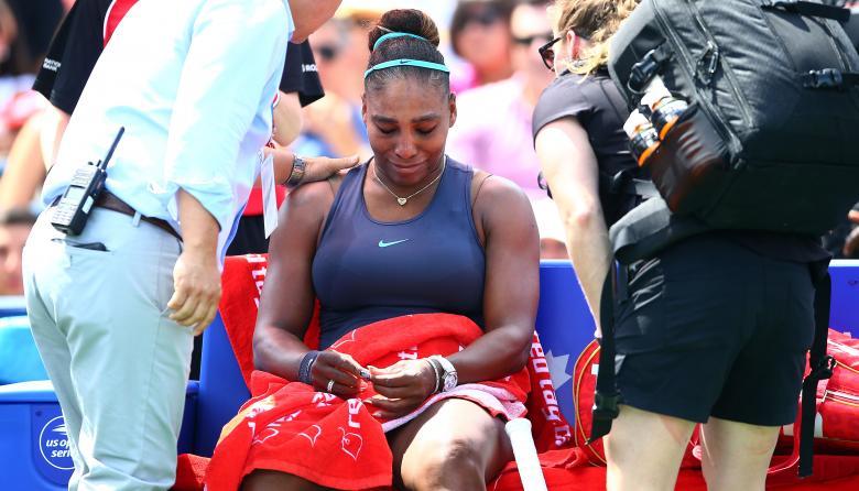 Serena Williams se retira por lesión de final de Toronto, Andreescu gana el título