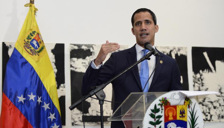 Juan Guaidó, líder opositor.