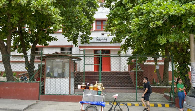 Fachada de la sede del Instituto del Deporte en Atlántico, ubicada en el barrio Montecristo.