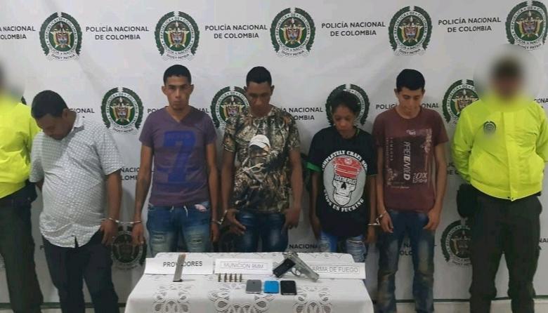Los presuntos miembros del 'Clan del Golfo' capturados.