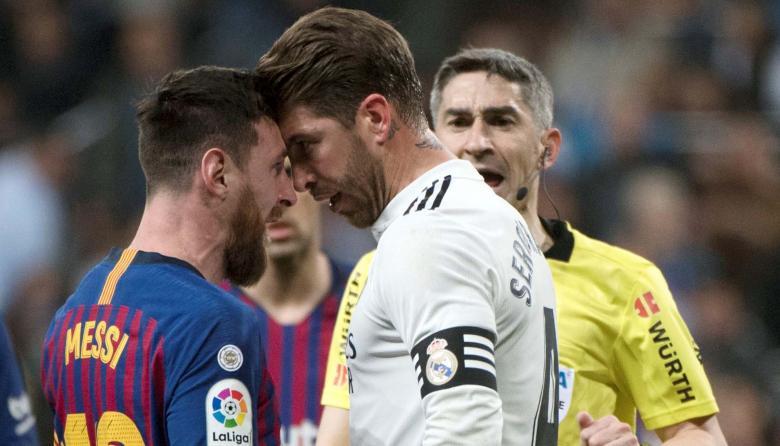 Lionel Messi y Sergio Ramos, dos de los grandes protagonistas del 'clásico'.