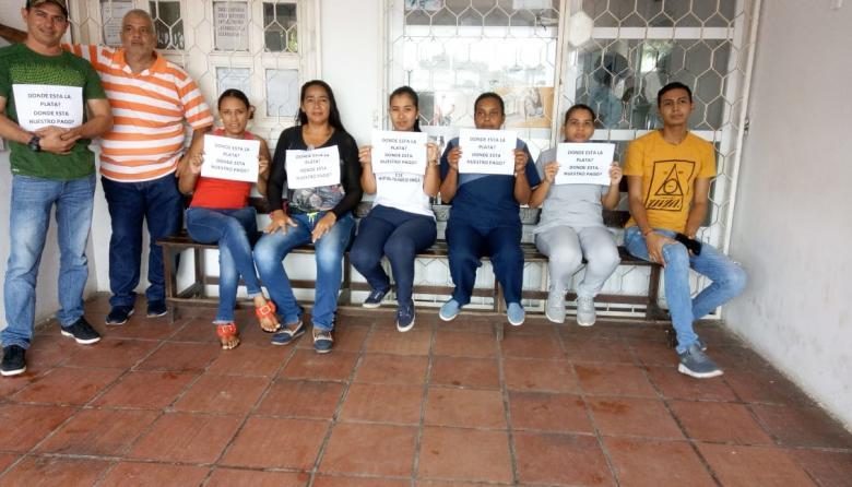 En video   Trabajadores del Hospital de Palmar protestan por el no pago de octubre
