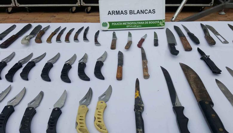 Porte de armas blancas será penalizado
