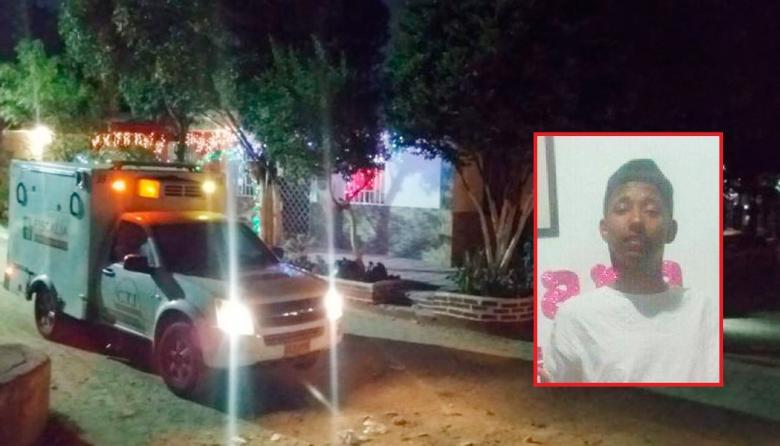 Sector de Soledad en el que fue baleado Edinson Lechuga Guerrero (en el recuadro).