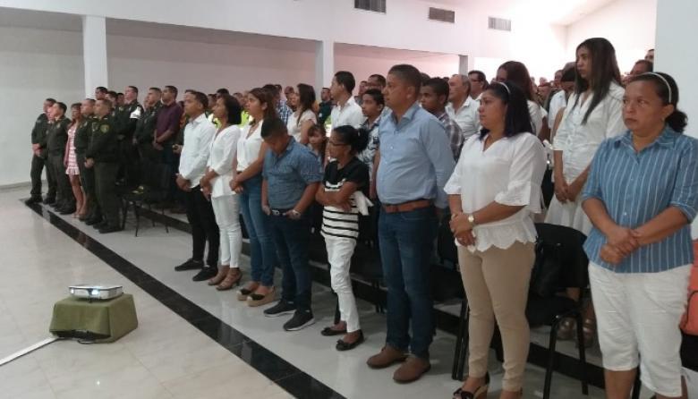 Valledupar rindió tributo a cadete muerto en atentado a escuela de Policía en Bogotá