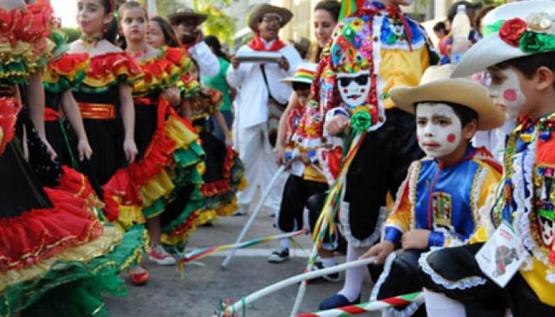 Aspecto de participantes del Garabato Infantil.