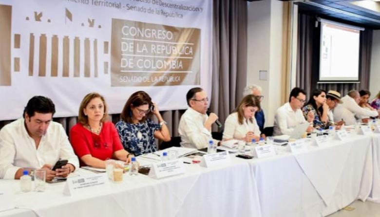 Aspecto de la reunión realizada en Santa Marta.