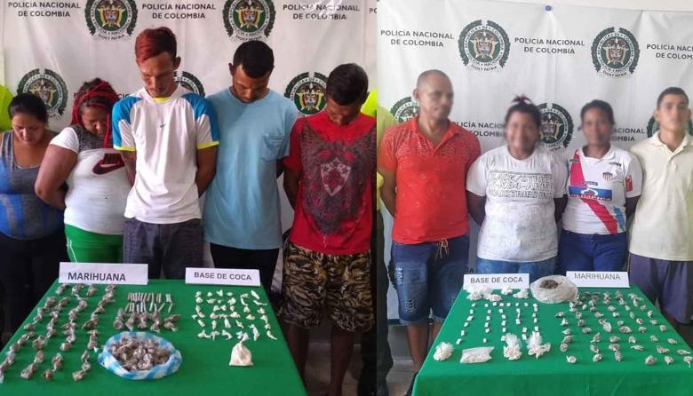 Caen nueve personas por venta de estupefacientes en Sabanalarga y Santa Lucía