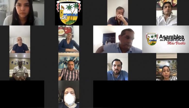 De manera virtual, Asamblea del Atlántico clausuró sesiones extraordinarias