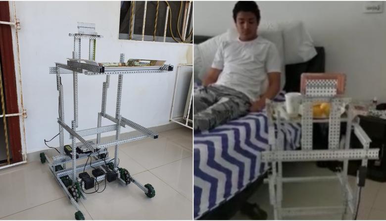 En video   Jóvenes barranquilleros crean robot para manejo de pacientes con COVID-19