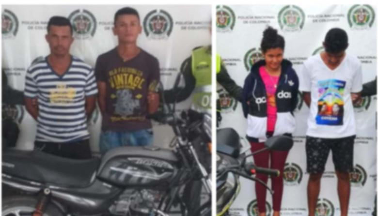 Una mujer y tres hombres fueron detenidos con motos robadas en Magdalena