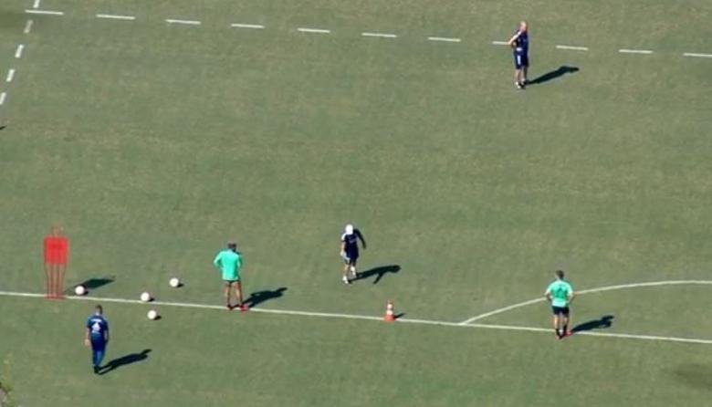 Los medios de comunicación brasileños pudieron captar la práctica del Flamengo a través de tomas aéreas.